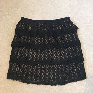 Ann talor crochet black skirt sz 6 medium M